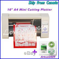 10 Mini Desktop Vinyl Cutter Cutting Plotter Sign Making & Artcut 2009 Software