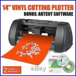 14 Vinyl Cutting Plotter Sign Cutter 3 Blades Artcut Software Printer Sticker