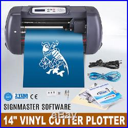 14 VINYL CUTTING PLOTTER SIGN CUTTER USB PORT CRAFT CUT WithSIGNMASTER SOFTWARE