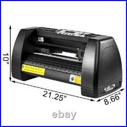 14'' Vinyl Cutter Plotter Machine 350mm Paper Feed Software Sign Sticker Making