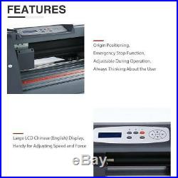 14 Vinyl Cutter Plotter WithSoftware+ LCD and 5 in 1 12x10 Heat Press Machine