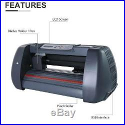 14 Vinyl Cutter Plotter WithSoftware+ LCD and 5 in 1 15x15 Heat Press Machine