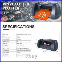 14Vinyl Cutter / Plotter, Sign Cutting Machine withSoftware + Supplies LCD screen