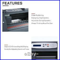 14Vinyl Cutter / Plotter, Sign Cutting Machine withSoftware+Supplies LCD screen
