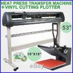 15X15 Heat Press Transfer 53 Vinyl Cutting Plotter 3 Blades Software Cutter