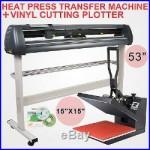15X15 Heat Press Transfer 53 Vinyl Cutting Plotter Printer Software Cutter