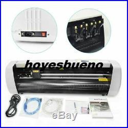 16 Vinyl Cutter Plotter Sign Cutting Machine Heat Transfer with Software 3 Blades