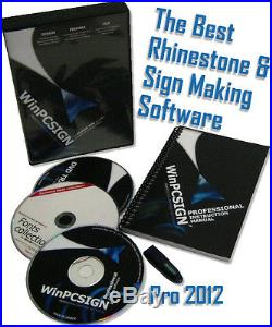 24 Sign Max Vinyl cutter Contour Cutting Pro Unlimited software 2012 ready2 use
