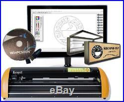 24 Vinyl Cutter -GCC II Expert + Sign making software cut arts & lettering