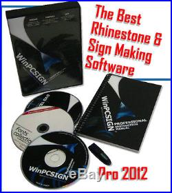 24 vinyl cutter with Cutting software WinPCSIGN PRO 2012 + rhinestone FEATURES