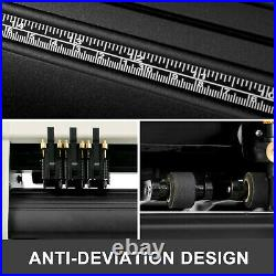 28/34 Vinyl Cutter Plotter Sign Cutting Machine Software 3/20 Blade LCD Screen