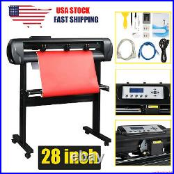 28 720mm Paper Feed Vinyl Plotter Cutter Machine Sign Cutting with Stand Software