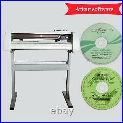 28 Cutting Plotter/Vinyl Cutter GJD-800 + Artcut 2009 Software+ 1 rolls vinyl