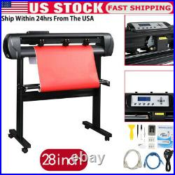 28 Inch 720mm Paper Feed Vinyl Plotter Cutter Machine With Stand, Software Fast