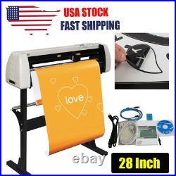 28 Inch Vinyl Cutter Plotter Cutting Machine Sign Sticker Making +Software Stand