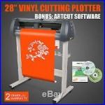 28 Vinyl Sign Cutting Plotter Cutter Usb Port Artcut Software 3 Blades Popular