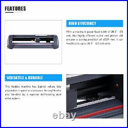 28 Viny lCutter Plotter Sign Cutting Machine with Software+2 Blades LCD screen US
