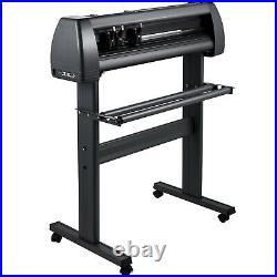 28 Vinyl Cutter/Plotter 720mm Sign Cutting Machine Software 3 Blades LCD Screen