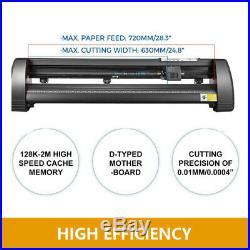 28 Vinyl Cutter Plotter Kit Sign Cutting Machine USB Software Supplies 3 Blades