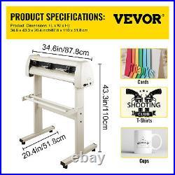 28 Vinyl Cutter/Plotter Sign Cutting Machine Software 20Blades LCD White