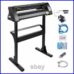 28 Vinyl Cutter/Plotter Sign Cutting Machine Software 3 Blades LCD Black