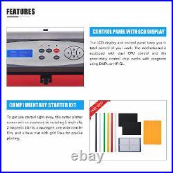 28 Vinyl Cutter /Plotter Sign Cutting Machine with Software 2 Blades LCD Supplies