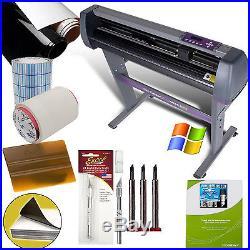 28 Vinyl Cutter Sign Sticker Making Machine + Cut Software Beginners Bundle