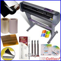 28-inch Vinyl Cutter Value Sign Making Bundle with Design and Cut Software