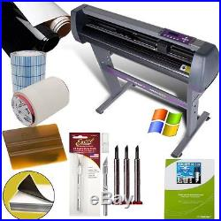 28-inch Vinyl Cutter Value Sign Making Bundle with Design and Cut Software Cut