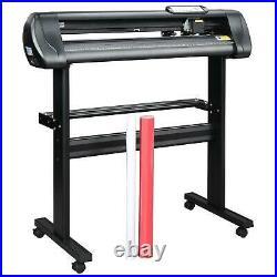 28in Vinyl Cutter Plotter Sign Cutting Machine Printer LCD Screen Software Tools
