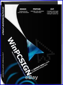 30 vinyl cutter &Cutting software WinPCSIGN PRO 2014 vinyl, mechanical pointer