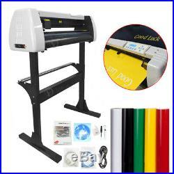 32 Vinyl Cutter Plotter Sticker Sign Cutting Machine withSoftware + HTV Supplies