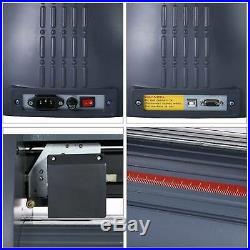 34 LCD Vinyl Cutter Plotter Cutting Sign Sticker Making Print Software 3 Blades