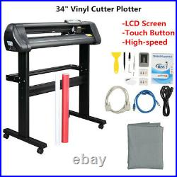 34 LCD Vinyl Cutter Sign Plotter Cutting with Signmaster Basic Software 6 Blades
