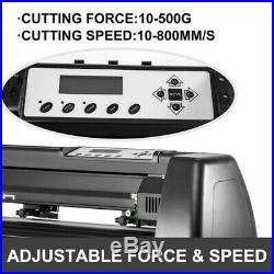 34 US Cutter Vinyl Cutter Plotter Sign Cutting Machine USB With Software Supplies