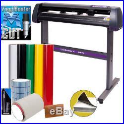 34 USCutter Vinyl Cutter / Plotter, \Sign Cutting Machine withSoftware + Supplies