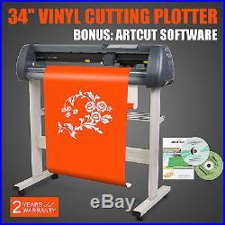 34 VINYL CUTTER PLOTTER With 3 BLADE SIGN STICKER MACHINE CUTTING ARTCUT SOFTWARE