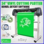 34 Vinyl Cutter Sign Cutting Plotter Wide Format Design/cut Artcut Software