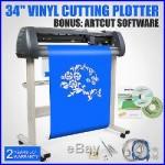 34 VINYL CUTTER SIGN CUTTING PLOTTER WithARTCUT SOFTWARE DESIGN CUT 3 BLADES USA