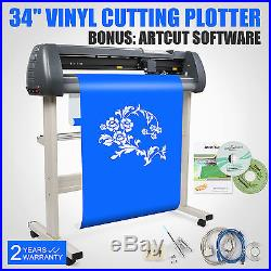 34 VINYL CUTTER SIGN CUTTING PLOTTER WithSTAND WIDE FORMAT ARTCUT SOFTWARE GREAT