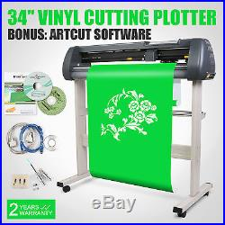 34 VINYL CUTTING PLOTTER CUTTER SIGN MAKING KIT WithARTCUT SOFTWARE MACHINE