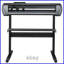 34 Vinyl Cutter 870mm Plotter Machine Signmaster Software Sign Making LCD&Stand