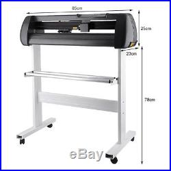 34 Vinyl Cutter Machine withSoftware Vinly Sign Plotter Great Starter Bundle Kit