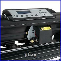 34 Vinyl Cutter Plotter Sign Cutting Machine Printer LCD with Software + 6 Blades