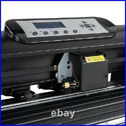 34 Vinyl Cutter Plotter Sign Cutting Machine Software Blades Kit LCD Screen