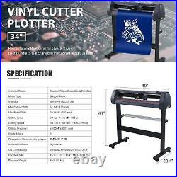34 Vinyl Cutter / Plotter Sign Cutting Machine withSoftware+3 Blades&LCD screen