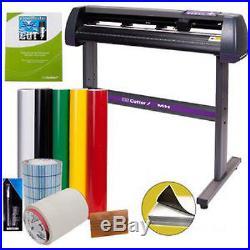 34 Vinyl Cutter Sign Cutting Plotter Machine Cut Software Printing Bundle Kit