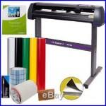 34 Vinyl Cutter Sign Cutting Plotter Machine Printing Bundle Kit Cut Software