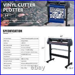 34 Vinyl Cutter Sign Plotter Cutting with Cut Basic Software 3 Blades+ Supplies