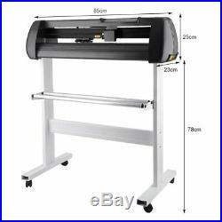 34 Vinyl Cutter Sign Plotter Cutting with Signmaster Cut Basic Software 3 Blades